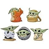 Nuevo 5pcs / Set Baby Yoda Mando Figura de acción Juguetes 5-6cm Yoda Baby Action Toys Star Wars Grogu Figuras Hot Kids Toys 5pcs / Set