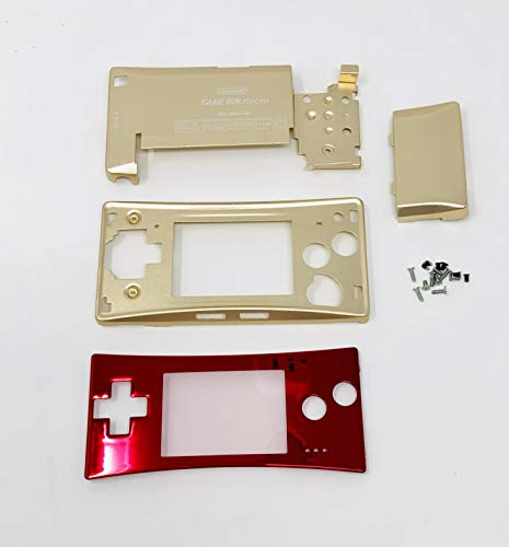 RGRS Replacement Famicom Full Housing Shell Case Repair Parts Kit w/Lens & Screwdriver for Nintendo Game Boy Micro Console… [video game]