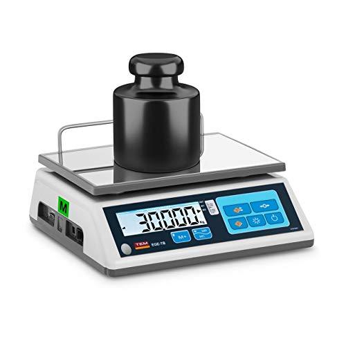 TEM Balanza De Mesa Báscula Digital TTB030D-O-B1 (Capacidad Máxima De 30 kg con...