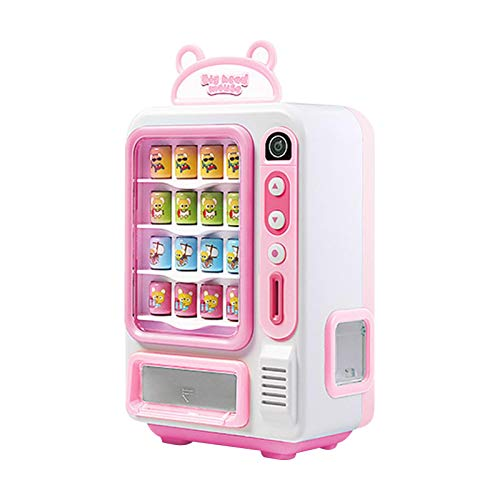 Mini máquina expendedora interactiva de juguete, máquinas de bebidas electrónicas con luz y sonido, regalo de desarrollo temprano para niños, niñas, desarrollo de la vida, sentido común