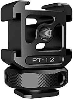 AFVO Aluminium Triple Cold Shoe Camera Flash Shoe Mount Adapter for Lights, LED Monitors, Microphones, Audio Recorder & Studio