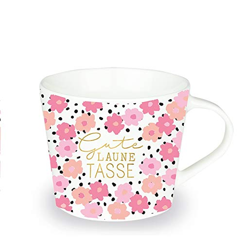 Grafik Werkstatt Kaffee-Tasse mit Echtgold | Porzellan Tasse | 420 ml | Gute Laune Tasse