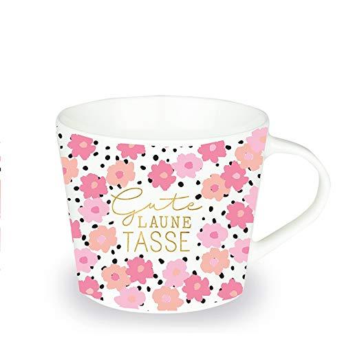 Grafik-Werkstatt Premium-Tasse, Gute Laune Tasse, Kaffeetasse, Teetasse, Goldveredlung