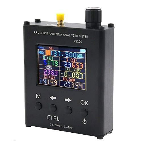 Hima UV RF Antenne Analyzer Standing Wave Tafel SWR Meter Tester voor 137.5MHz-2.7GHz met Ham Radio met Aluminium Case PS100