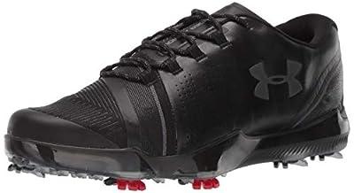 Under Armour mens Spieth Iii Golf Shoe, Black (001 Black, 7.5 US
