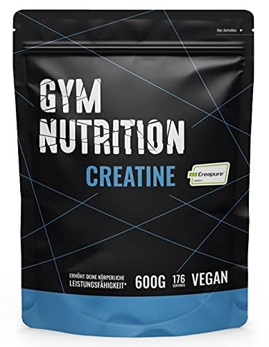 Gym Nutrition Creapure Creatine Monohydraat (Poeder) | Hoge biologische beschikbaarheid | Goed opneembaar | Lactose- en glutenvrij | 100% Veganistisch | Inhoud: 500 gram