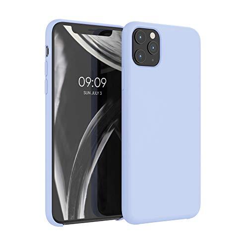 kwmobile Carcasa Compatible con Apple iPhone 11 Pro MAX - Funda de Silicona para móvil - Cover Trasero en Azul Claro