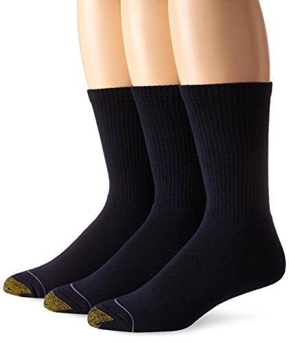 Gold Toe Uptown Crew Herren-Socken, 3er-Pack - Blau -