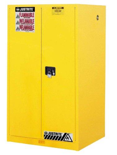 Justrite 896000 Sure-Grip EX Flammable Safety Cabinet, 2 Door, Manual Close, 65