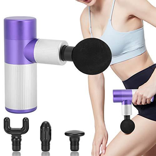 Pistola de masaje muscular de mano, masajeador de tejido con carga USB...