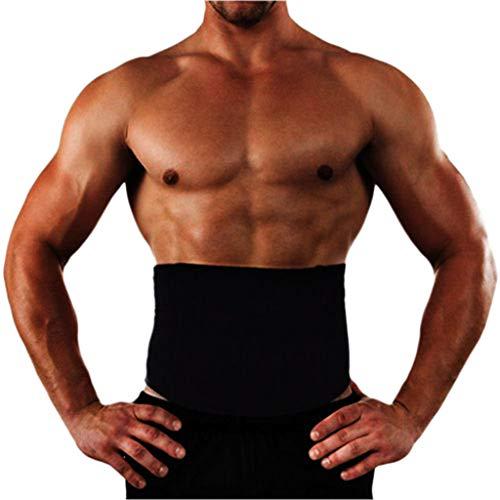 TEBAISE Bauchweggürtel Fitnessgürtel Herren Männer Zum Abnehmen Gürtel Verstellbarer Schwitzgürtel Sauna Bauchgürtel Waist Belt Für Sport Fitnesstraining Sweat