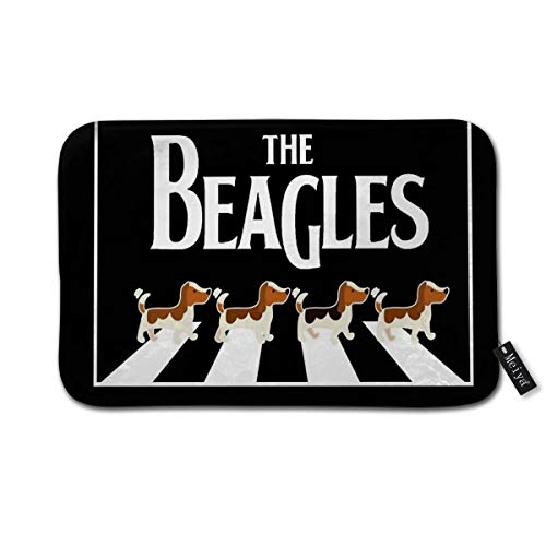 Cocoal-ltd The Beagles - Felpudo de entrada para interiores, puerta delantera/baño/cocina y sala de estar/dormitorio, 23.6 pulgadas de largo x 15.7 pulgadas de ancho