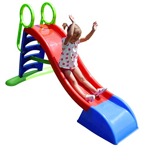 Kids Extra Large Water Slide for Outdoor Garden Childrens toys for toddlers Large slide for toddlers babies toys activity Chute Freestanding Waterslide for Children Boys Girls 2 3 4 6 years old