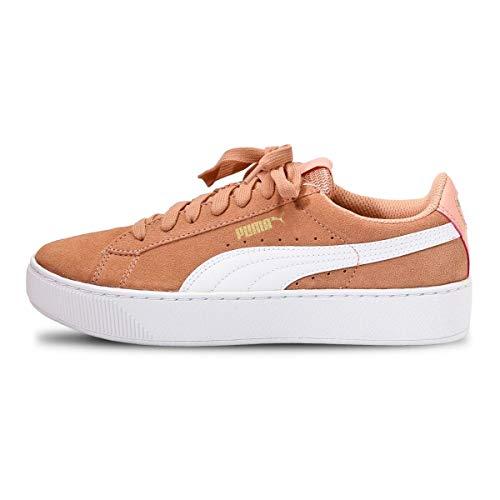 PUMA Vikky Platform D - Sneaker da donna, colore: Oro bianco, Coral Cloud Gold White, 42 EU