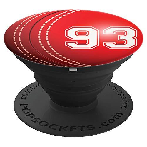 Cricket #93 Cricket Player Trikot Nr. 93 Handy Griffe Gesche - PopSockets Ausziehbarer Sockel und Griff für Smartphones und Tablets