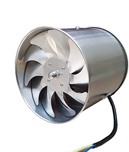 SAIYI 145mm Cocina Baño Ventilación Techo de la Pared de Metal Extractor silencioso de Escape de Gran Alcance de Alambre de Cobre del Ventilador del Motor 45W, el Volumen de Aire: 850m³ / h
