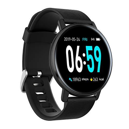 H5 Smartwatch mit Touchscreen, 3,3 cm (3,3 Zoll), wasserabweisend, Herzfrequenzmesser, Fitness-Tracker, Schrittzähler, Sportuhren, Smartwatch für iOS und Android