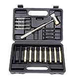 Kit de pinchazo de rollo de rollo con doble cara Kit de herramientas de eliminación de metales de metal para herramientas Mantenimiento Mantenimiento Herramientas de mano