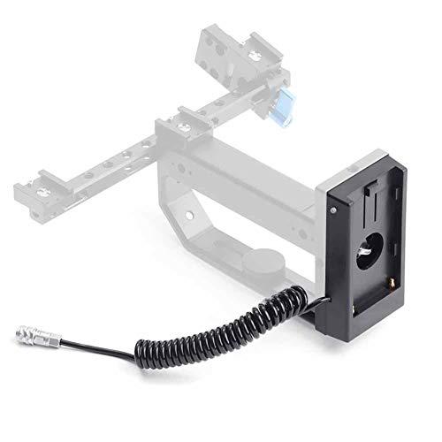 VBESTLIFE F970 Dummy Accukoppeling, 12V Dummy Accu-adapter Mount plaat voor BMD BMPCC 4K camera voor Sony NPF970, F960, F770, F750, F570, F550 batterijen met TIPP licht