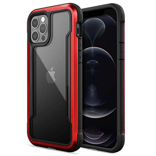X-Doria Raptic Shield Coque Compatible avec la Coque iPhone 12 et 12 Pro, Protection Absorbant Les Chocs, Test de Chute de 10 Pieds, Convient à l'iPhone 12 et 12 Pro, Rouge
