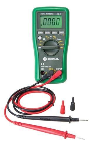 Greenlee - Dmm, 600V Ac/Dc, 10A, Cap,Temp, Elec Test Instruments (DM-45)