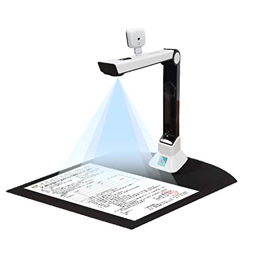USB Document Camera for Teachers Laptop, Portable High-Definition Scanner Office Classrooms with Real-time Projection Video Recording Versatility A4 Format, OCR Multi-Language Recognition,etc