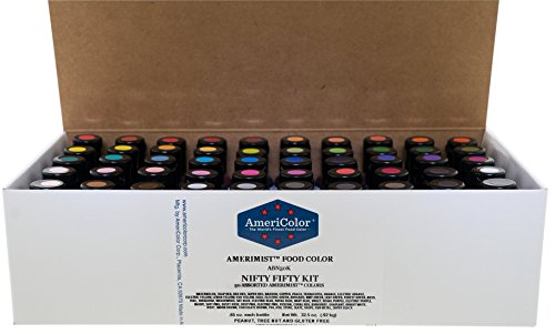 Food Coloring AmeriColor - Nifty Fifty AmeriMist Kit, 50 .65 Ounce Bottles