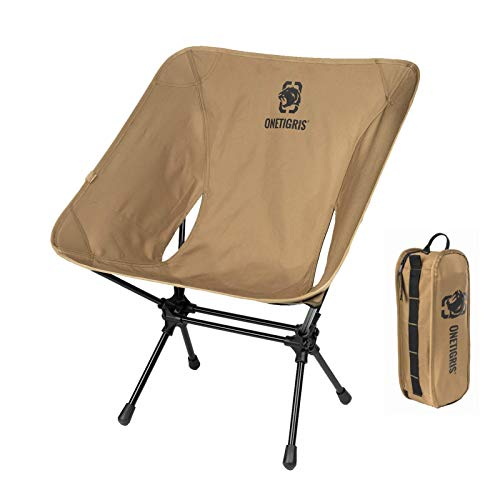 OneTigris Camping Backpacking Chair 330 lbs Capacity Compact Portable Folding Chair for Camping Hiking Gardening Travel Beach Picnic Lightweight Backpacking