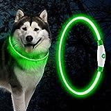 Collar Luminoso Led Para Perros, Collar De Perro Azul Collar De Perro Luminoso Recargable Usb, Collar De Seguridad Para Mascotas, Ajustable En Longitud, Tres Modos De Iluminación, Para Perros Y Gatos