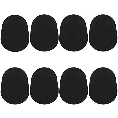 8 Stück Alt-Tenor-Saxophon-Klarinette-Mundstück-Kissen, 0,8 mm Gummi Saxophon-Mundstück-Patches Pads-Kissen (Schwarz)