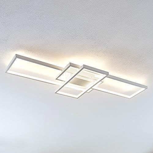 Lindby LED Deckenleuchte 'Poppy' dimmbar (Modern) in Weiß aus Aluminium u.a. für Wohnzimmer & Esszimmer (1 flammig, A+, inkl. Leuchtmittel) - Lampe, LED-Deckenlampe, Deckenlampe, Wohnzimmerlampe