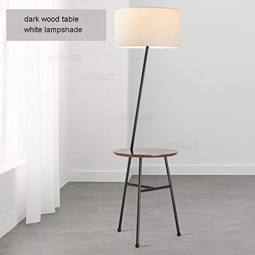 5151BuyWorld lamp Lynn vloer moderne lamp met huis vaste kamerlamp zittend licht nachtvloer sofa stoffen kap Nordic eiken tafel ronde houten kant Foyer {}