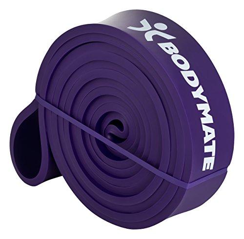 BODYMATE Premium Fitnessband Medium/Lila 16-36KG Widerstandskraft 208cm Umfang
