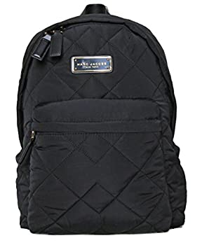 MARC JACOBS black quilted backpack M0011321 11.5   L  x 14   H  x 4   W