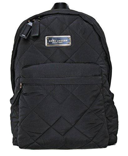 MARC JACOBS black quilted backpack M0011321, 11.5' (L) x 14' (H) x 4'...