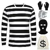 URATOT Halloween Robber Costume Set Black...
