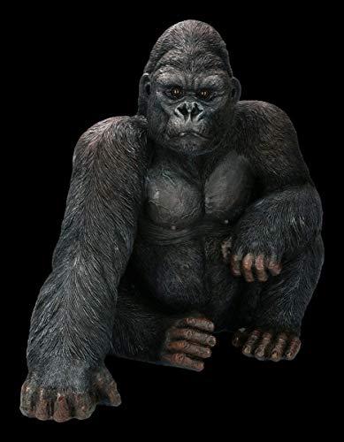Casa Collection Gartenfigur - Großer Gorilla | Gartendeko Dekofigur Gartenstatue Tierfigur H 43 cm