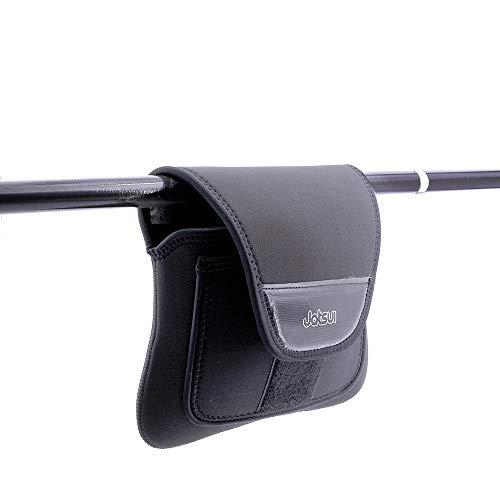 JATSUI Uchwyt na kołowrotek wędkarski z neoprenu, Reel Case L-Cover akcesoria wędkarskie, czarny, L
