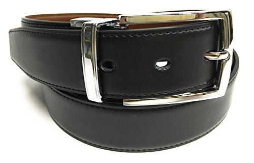 Yojan Piel Cinturon De Piel Reversible negro y marron (105) | Cinturon elegante para vestir en Bodas...