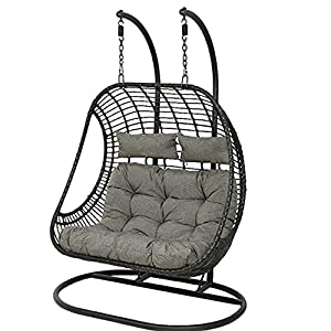 Dawsons Living Vienna Patio Hanging Double Egg Chair