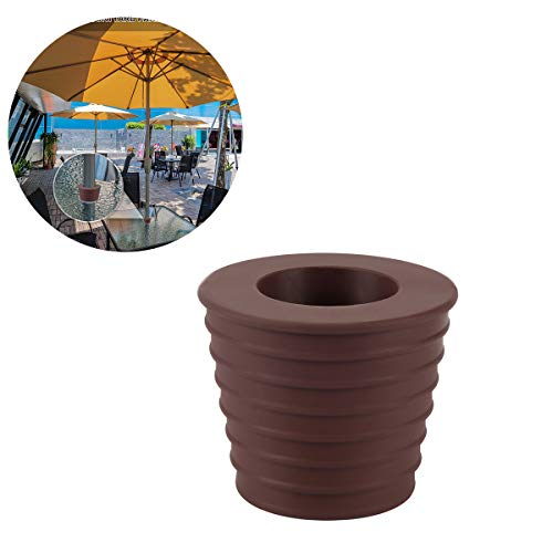 Umbrella Cone Wedge for Patio Table Hole Opening or Parasol Base Stand 1.9 to 2.7 Inch Umbrella Pole Diameter 1 1 2 Inch (Dark Brown)