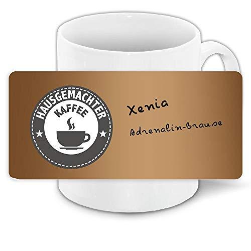 Tasse mit Namen Xenia und Hausgemachter Kaffee-Motiv | Keramik-Tasse | Kinder-Tasse