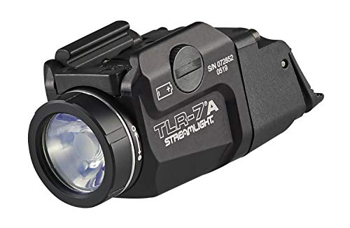 STREAMLIGHT 69424 TLR-7A Flex 500-Lumen Low-Profile Rail-Mounted Tactical Light, Includes High Switch Mounted on Light Plus Low Switch in Package, Battery and Key kit, Black, Box Packaged