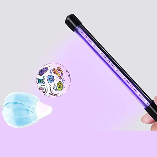 Exwell Sterilizzatore portatile sterilizzatore a luce UV antibatterico Travel Wand Rate 99% lampada UV senza sostanze chimiche per hotel, casa, guardaroba, servizi igienici, auto