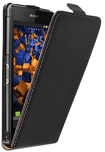 mumbi Tasche Flip Hülle kompatibel mit Sony Xperia Z2 Hülle Handytasche Hülle Wallet, schwarz