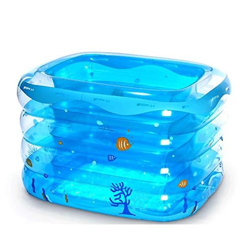 NXYJD Bebé de la bañera Inflable, Infantil Portable Mini Piscina al Aire...