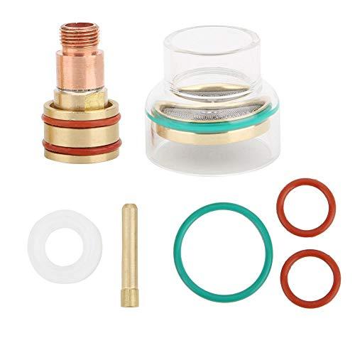 TIG Gas Lens Collets, TFM53NCN TIG Kit de soldadura TIG Torch Glass Cup Collet para WP17/WP18/WP26(1.6mm)