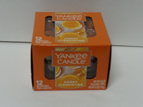 Yankee Candle Honey Clementine Tea Light Candles, Food & Spice Scent