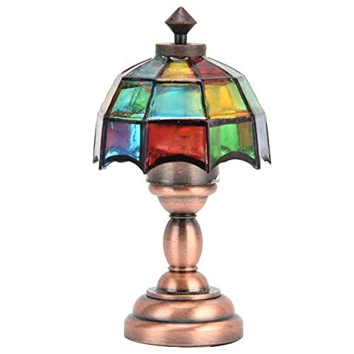 QIRG 1:12 Mini luz en Miniatura de casa de muñecas, lámpara de pie de casa de muñecas Ligera con Pilas 1:12 Lámpara de Muebles de iluminación de casa de muñecas DIY para casa de muñecas 1/12