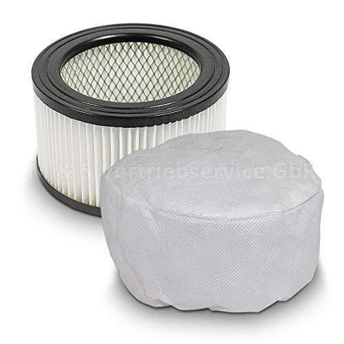 Sparset Ersatzfilter + Vliesfilter für Aschesauger Rußsauger mit Motor Ersatz Filter